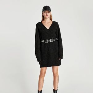 NWT ZARA OVERSIZED SWEATER DRESS SZ SMALL
